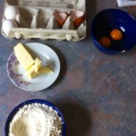 Eier, Butter, Mehl
